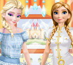 Elsa And Anna Work Dress Up