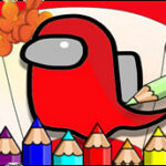 Amoung Us Coloring Book Game