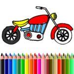 BTS Motorbike Coloring