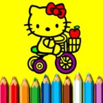 BTS Sweet Kitty Coloring