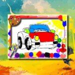 Cartoon Cars Coloring Book