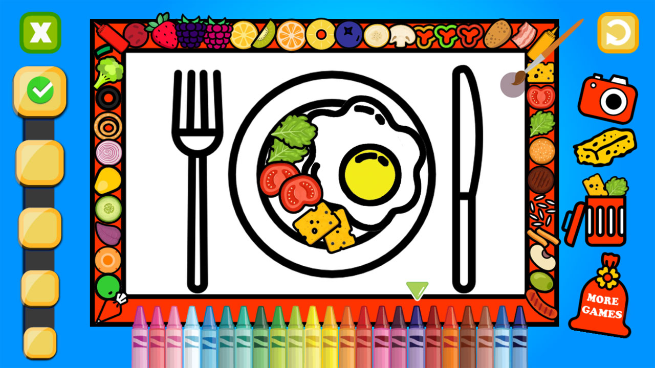 Image Color and Decorate Dinner Plate