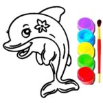 Dolphin Coloring Book