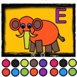 Easy Kids Coloring Letters