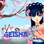 Geisha make up and dress up