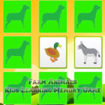 Kids Learning Farm Animals Memory