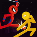 Police Stick man wrestling Fighting Game