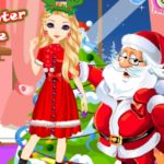 Santa's Daughter Home Alone