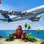 Airplane Simulator Island Travel