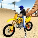Beach Bike Stunt