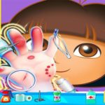 Dora Hand Doctor Fun Games for Girls Online