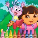 Dora the Explorer 4 Coloring