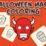 Halloween Mask Coloring Book