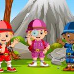 Kids Camping Hidden Stars