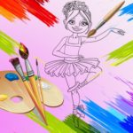 Little Ballerinas Coloring