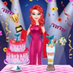 Mermaid Cake Cooking Design