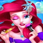 Mermaid Princess Makeup – Girl Fashion Salon game
