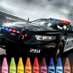 Police Cars Coloring