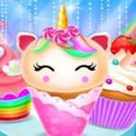 Unicorn Mermaid Cupcake Cooking Design