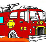 Fire Trucks Coloring Pages
